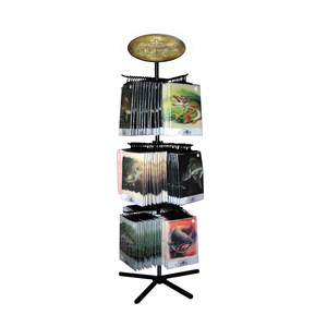 Customized Size Retail Shops Portable Metal Magazine Display Stand