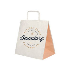 Eco Friendly Packaging Bag Recyclable Custom Color Printed Brown