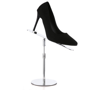 Modern Unique Design Adjustable Height EVA Non-slip Metal Shoe Display Rack For Retail Store