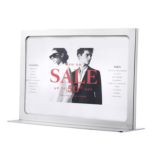 Hotel Metal Post Stand Poster Frame Sign Holder,Sign Stand Holder Picture Frame Display Stand