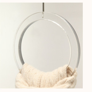 Circle Acrylic Scarf Hangers With Metal Hook