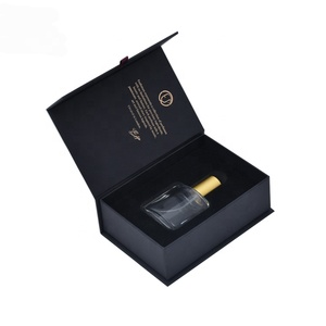 High Quality Printing black card paper box custom design paper empty bottle luxury magnet packaging