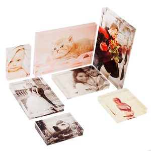 Custom UV Printed Acrylic Photo Image Block