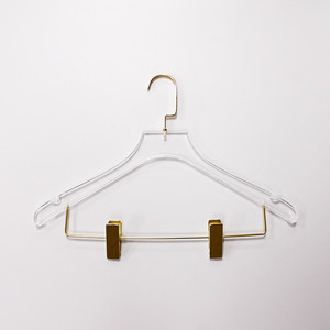 Clear Acrylic Hanger With Metal Clip