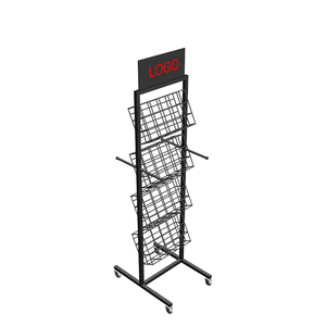 Hot Sell Knock Down Plate Metal Product Display Stand Metal