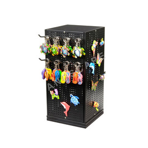 Metal rotating keychain display stand / keychain rotating display stand