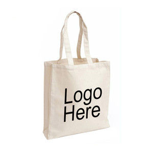 canvas cotton tote bags with custom printed logo