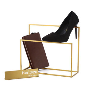 Modern Exquisite Women Shoe Retail Store Cube Metal Display Stand