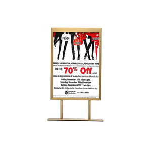 Advertising Stand Standing Poster Display Rack Poster Sign Holder Metal POP Display Rack