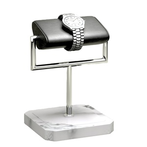 Customized marble Display Wrapped Jewelry Watch leather Display Stand