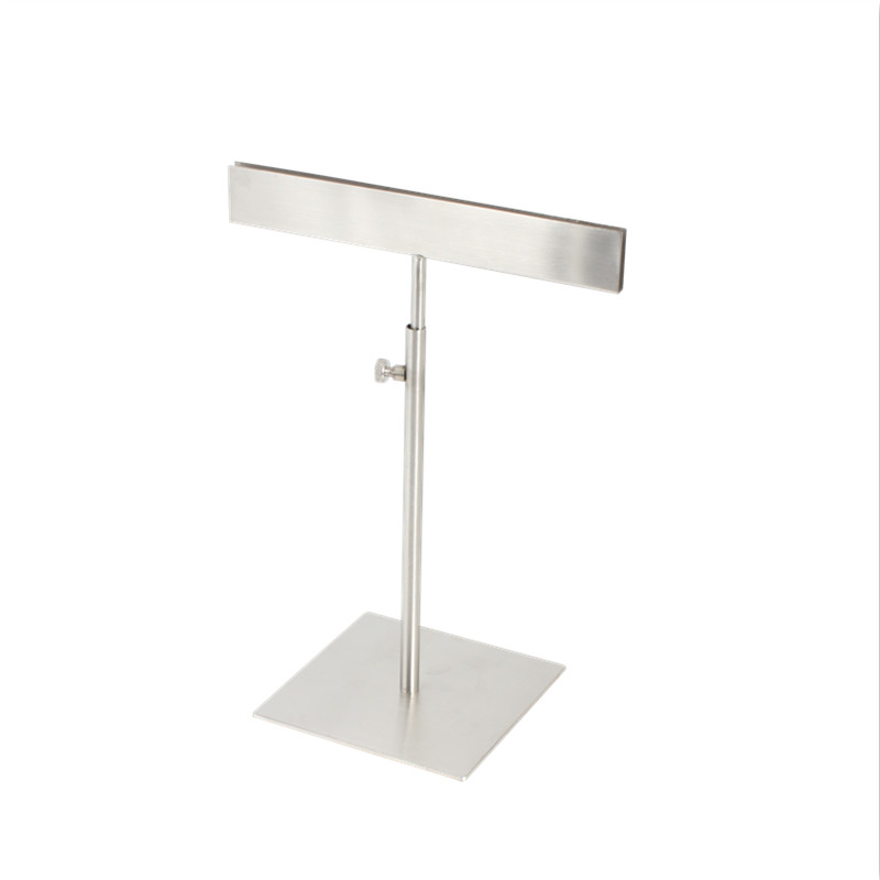 Metal Brushed Silver Desktop Poster Stand