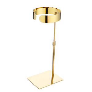 New Design Mirror Gold Tie Display Case Adjustable Height Tie Display Rack for Boutique Retail Shops