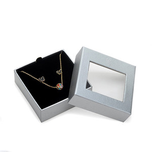 Custom Necklace Earring Packaging Paper Box with Transparent Window