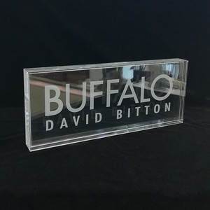 Custom Acrylic Block With Laser Engraving Logo