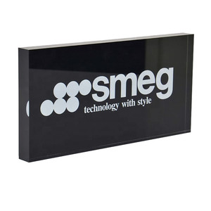 Custom Solid Colored Background Acrylic Logo Block