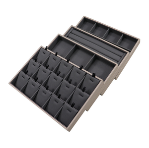 PU Leather Jewelry Display Tray