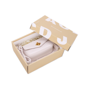 Luxury customized square paper cardboard box with lid for handbag packaging